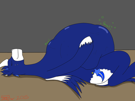 Cobalt Flash's enjoying his meal [Request][Vore] by Kyuubichowderfan