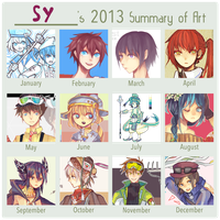 2013 art summary by Sychandelic