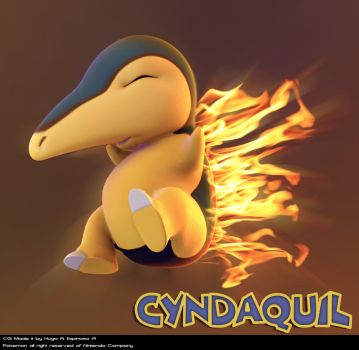 Cyndaquil 3D by Magna-omega