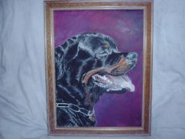 Rottweiler Painting by Ryzouk