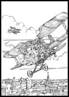 Air Patrol-Inktober 2015 #27 by VincentBryantArt