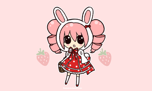 Strawberry Bunny by Pijenn
