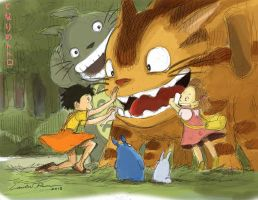 Tonari no Totoro (My Neighbor Totoro) by N-City