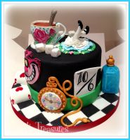 Alice In Wonderland Cake by gertygetsgangster