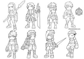 Chibi Characters Design by chlei