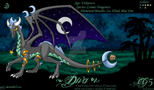 Diva the Cosmos Dragoness by Ezallyia