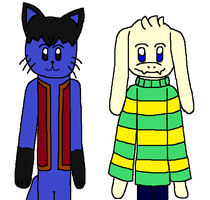 CG: Giovanni and Asriel Dreemurr by angelthewingedcat