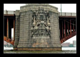 Charles River bridge detail.L1010659, with story by harrietsfriend