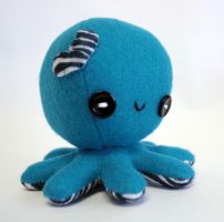 Teal blue valentine octopus plush by jaynedanger