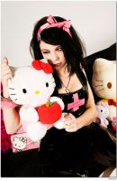 me and hello kitty by glowingwinterheart