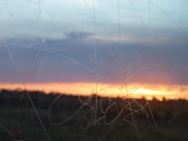 Window Scratches Over a Sunset by Just-To-Look1