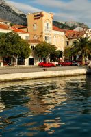 Makarska waterfront reflections 1 by wildplaces