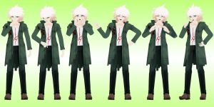 Nagito Komaeda Poses by JapaneseAnimeFreak