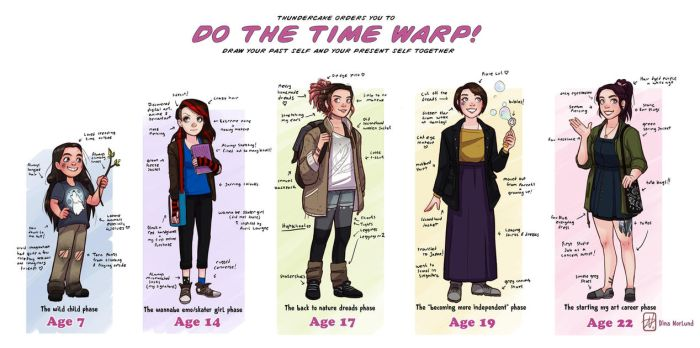 Do the time warp! Art challenge and speed paint by Coalbones