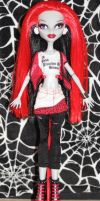Rave N. Nevermore custom ooak by rainbow1977