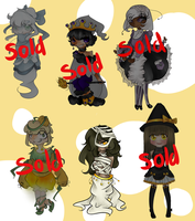 Halloween Collab Adopt batch [OPEN] 1/6 Left! by Sweet-PrinceAdopts
