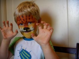 lil' tiger face- my nephew by alteredboxes