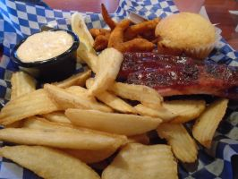 Ribs, Catfish and Famous fries by mylesterlucky7