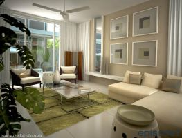 3D Living Area by iwan-artwork