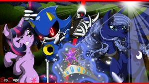 Comm - Metal Sonic Luna and Twilight : Impasse by BroDogz