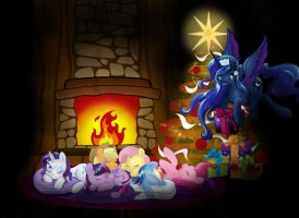 Chrirmas Ponys by artist-apprentice587