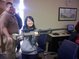 Me holdin a Barret 50.  :0 by Gundamluver