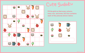 cute sudoku by appiepie