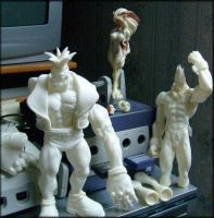 works in progress_Darkstalkers by felifan
