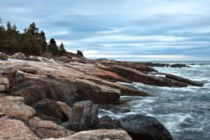Ocean Point Rocky Shore by EvaMcDermott