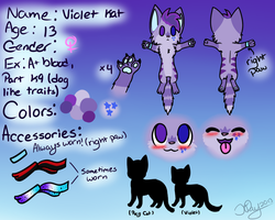 Violet ref sheet by Violetkay214