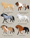 Horse Design Adopts 2 (Mutations/Normal) by horsy1050