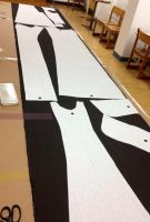 Tailoring: Coat Pieces Being Cut Out by SeikoMiwarui