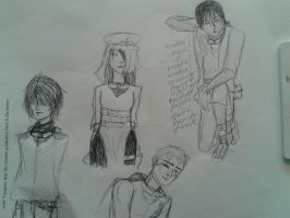 Preliminary Rough Sketches by tatterdema1ion