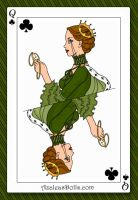 Me as the Queen of Clubs by Brushogen