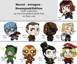 Chibi Collection - Avengers - Steampunk!Edition by Kiell-Art