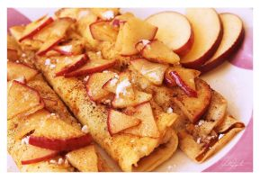 Apple and Cinnamon Crepes by VintageWarmth