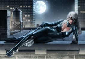 Black Cat Print by OzWonderland
