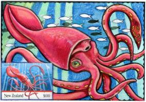 Giants of Aotearoa - Squid by lemurkat
