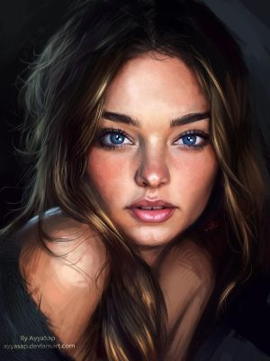 Miranda Kerr study and process by AyyaSap