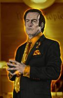 Saul Goodman as the Orange Lantern  by halwilliams