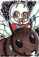Ant-Man Art Trading Card by CuddlyCapes