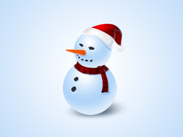 snowman icon - free psd by nelutuinfo