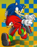 Sonic and Knuckles by geN8hedgehog
