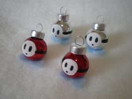 Shy Guy Holiday Ornaments by Omonomopoeia