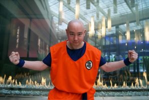 Krillin's fired up by NamekAngelIvy