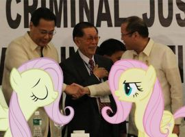 P-Noy And Corona Meet The Fluttershies by RicRobinCagnaan