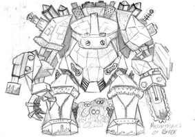 Tinker's Power Armour (old and amateur) by Shade-os