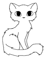 cat lineart by sparkstar35