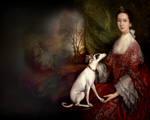 A Lady and her Dog wallpaper by olde-fashioned