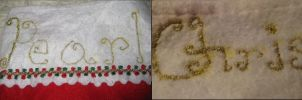 Embroidery names by MonnieBiloney